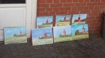 Die Aquarelle vom Leuchtturm Barstorf (c) Frank Koebsch (1)