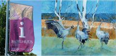 Aktuelle Ausstellung von Kranich Aquarelle und Drucken vom 05.09. bis zum 03.11.2014 im Biosphärenreservat Schaalsee