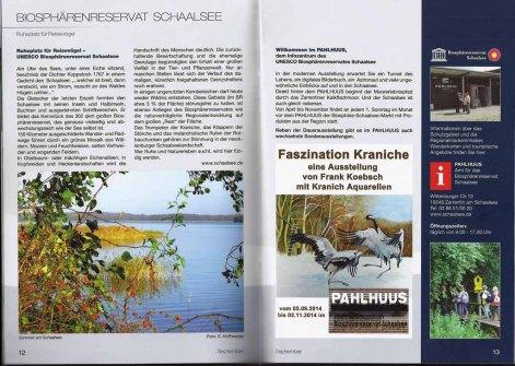 Die Ausstellung Faszination Kraniche im Biosphärenreservat Schaalsee