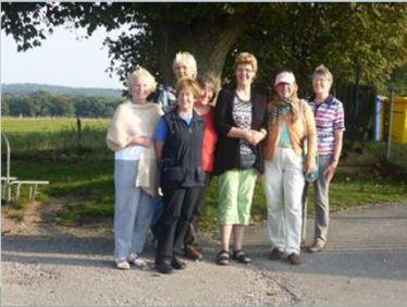 Die Vita Malgruppe Ratzeburg auf Malreise - Leuchtturm in Barstorf (c)Frank Koebsch