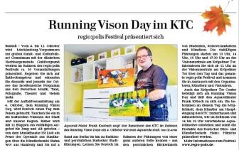 Running Visions Day mit Aquarellen von Frank Koebsch- im KTC