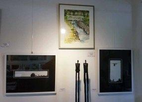 Scherenschnitte von Wiebke Steinmetz, Skulpturen von Nando Kallweit und Aquarelle Frank Koebsch in der Galerie Severina (c) Frank Koebsch