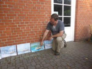 Die Aquarelle vom Hafen in Rerik (c) Gerda Brüggemann