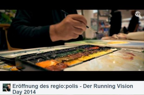 Frank Koebsch im Video von Bert Scharffenberg über die Eröffnung des Festivals regio polis (1)