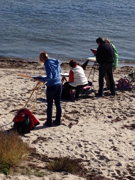 Malen am Strand von Thiessow (c) Birgitt Bartelt (1)