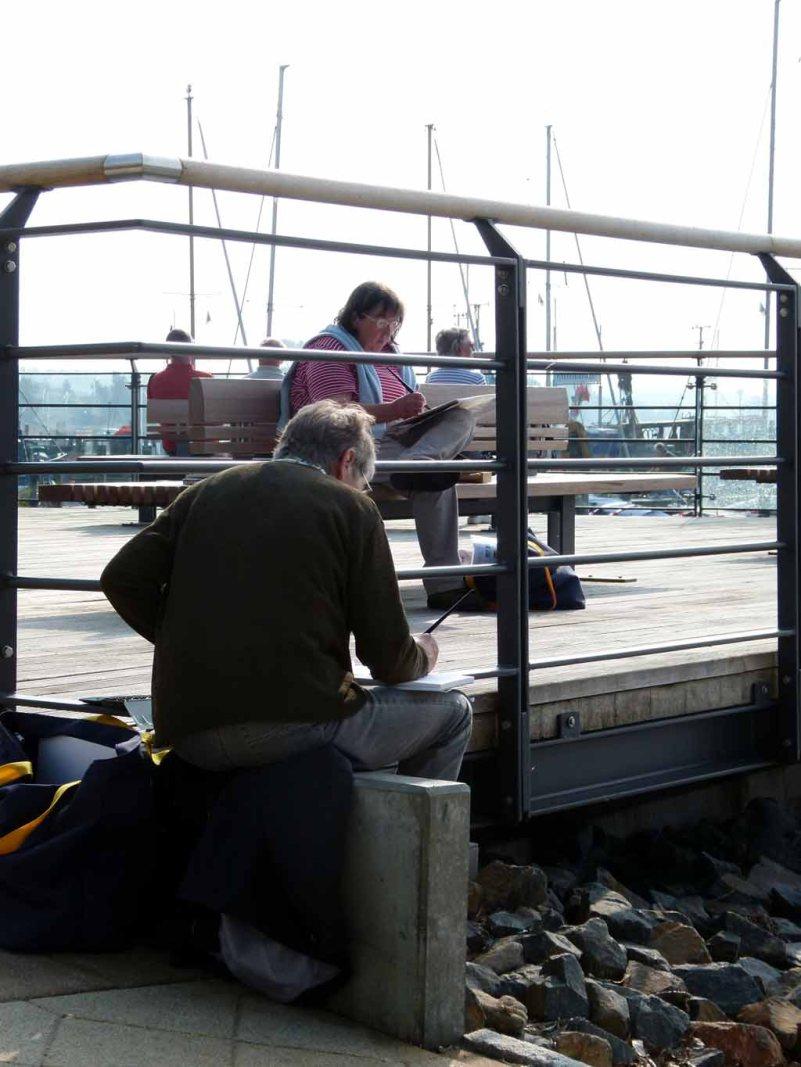 Malreise an die Ostsee - Aquarellieren im Hafen von Rerik (c) Frank Koebsch (2)