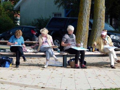 Malreise an die Ostsee - Aquarellieren im Hafen von Rerik (c) Frank Koebsch (5)