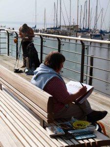 Malreise an die Ostsee - Aquarellieren im Hafen von Rerik (c) Frank Koebsch (7)