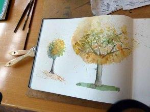 Blick in das Skizzenbuch einer Malschülerin (c) Frank Koebsch
