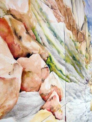 Detail des riesigen Rügen Aquarell von Max Struwe (c) FRank Koebsch