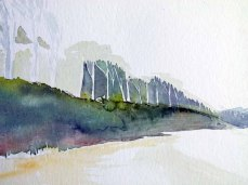 Ein Aquarell vom Gespensterwald entsteht (c) FRank Koebsch (2)