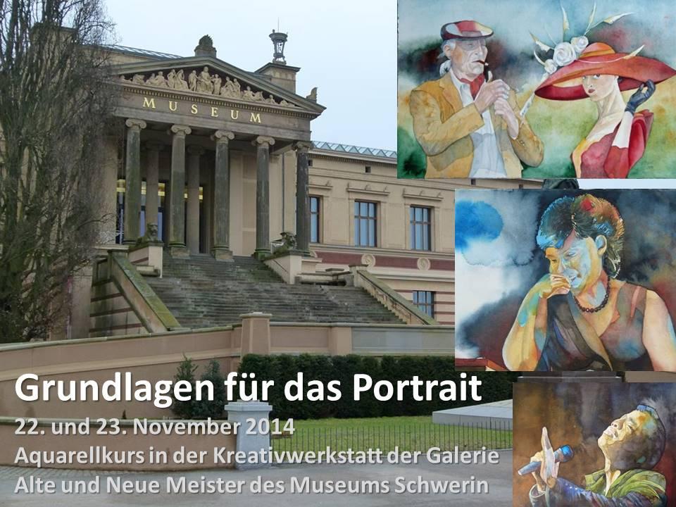 Grundlagen für das Portrait in der Aquarellmalerei 2015.