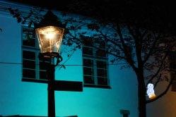 Illuminierter Klosterhof während der Rostocker Lichtwoche (c) Frank Koebsch (2)