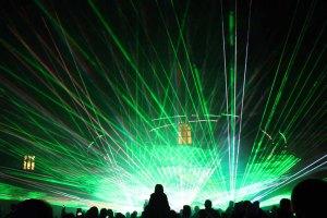 Lasershow während der Rostocker Lichtwoche (c) Frank Koebsch