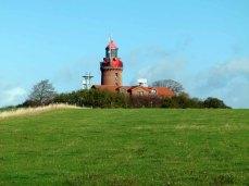 Leuchtturm von Bastorf in der Herbstsonne (c) Frank Koebsch