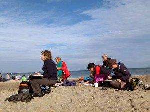 Malen am Strand von Kühlungsborn (c) FRank Koebsch