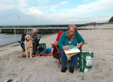Malen am Strand von Nienhagen (c) Frank Koebsch (1)
