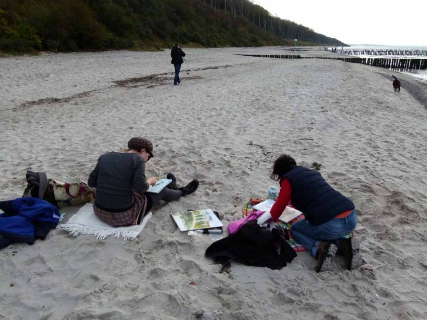 Malen am Strand von Nienhagen (c) Frank Koebsch (2)