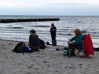Malen am Strand von Nienhagen (c) Frank Koebsch (3)