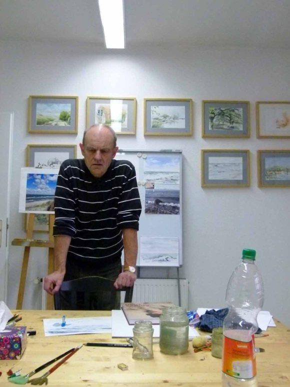 Max Struwe in seinem Atelier (c) FRank Koebsch