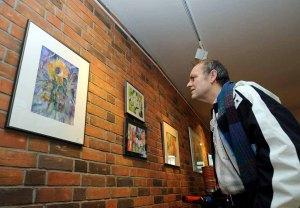 Max Struwe in unserer Ausstellung im Haus der SWR 2008 (c) Joachim Kloock (1)