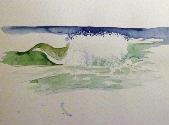 Wie malt man Wellen in Aquarell ? (c) Frank Koebsch (1)