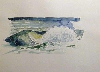 Wie malt man Wellen in Aquarell ? (c) Frank Koebsch