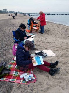 Wir malen Wellen, Buhnen und Strand (c) Frank Koebsch (2)