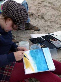 Wir malen Wellen, Buhnen und Strand (c) Frank Koebsch (3)