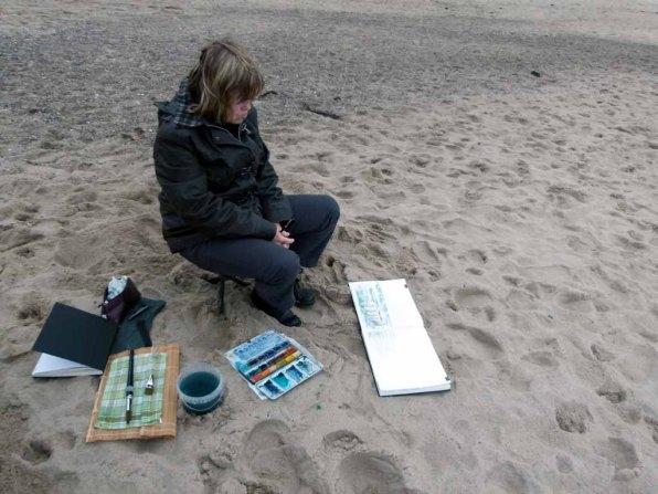 Wir malen Wellen, Buhnen und Strand (c) Frank Koebsch (4)