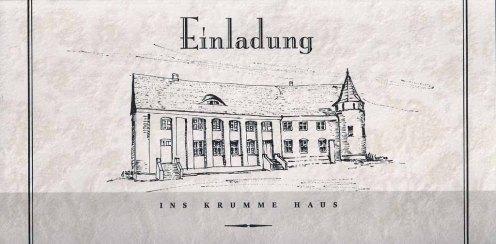 Einladung zur Ausstellung von Hanka & Frank Koebsch in Krumme Haus