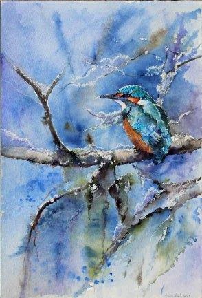 Eisvogel (c) Aquarell von Hanka Koebsch