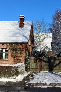 idyllischer Winter in Sanitz (c) Frank Koebsch