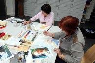 Teilnehmer am Kurs Grundlagen des Portraits in Aquarell (c) Frank Koebsch (1)