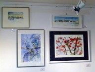 unsere Winteraquarell in der Galerie Severina (c) FRank Koebsch (1)