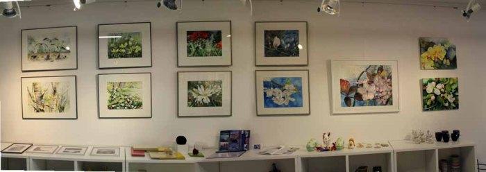 Ausstellung von Frühlingsaquarellen von Hanka u Frank Koebsch in der Galerie Severina (c) Frank Koebsch