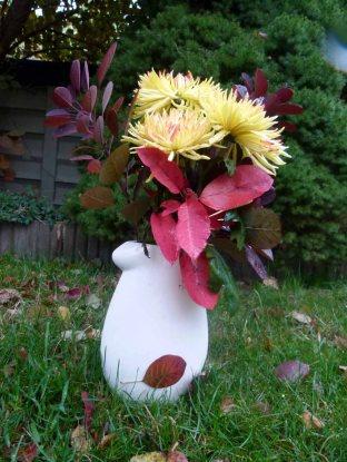 Gelbe Chrysanthemen als Herbststrauß (c) Frank Koebsch
