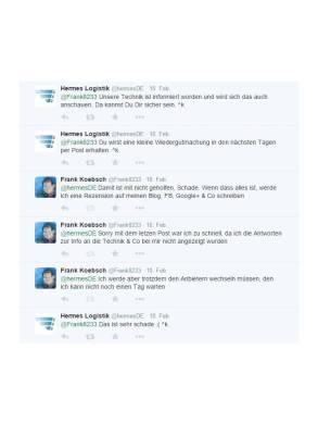 Kundenbeschwerde bei dem Support von Hermes über Twitter Teil 2