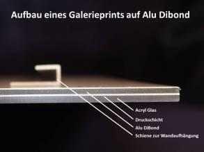 Aufbau eines Galerieprints auf Alu Dibond (c) Frank Koebsch