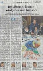 Bei Rostock kreativ wird jeder zum Künstler - Ostsee Zeitung 2015 03 13