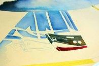 Das erste Motiv entsteht auf der Leinwand für Rostock Kreativ 2015 (c) Frank Koebsch (4)