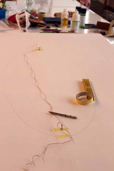 Gärtnerkonstruktion einer Elipse (c) Frank Koebsch (2)