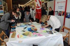 Malen für Aquarellfarben, Kreiden und Stiften - Rostock kreativ 2015 (1)