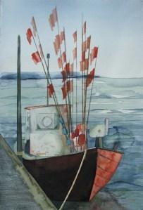 Nach dem Fang (c) Aquarell von Frank Koebsch