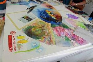 Unser fertiges Aquarell- Rostock kreativ 2015 (2)