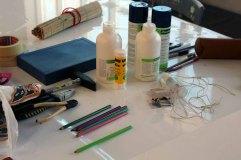 Vorbereitung der Leinwand für Rostock Kreativ 2015 (c) Frank Koebsch (2)