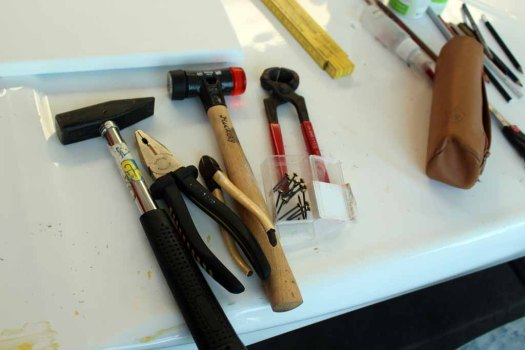 Werkzeug für einen Aquatellmaler (c) FRank Koebsch