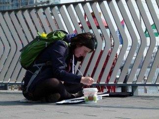 Malreise nach Hamburg - Malen an den Elbpromenaden beim Feuerschiff (c) Frank Koebsch (4)