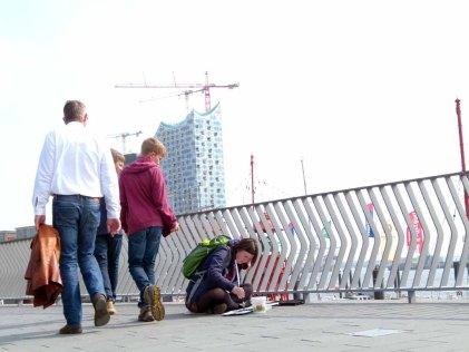 Malreise nach Hamburg - Malen an den Elbpromenaden beim Feuerschiff (c) Frank Koebsch (5)