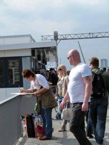 Malreise nach Hamburg - Malen an den Elbpromenaden beim Feuerschiff (c) Frank Koebsch (8)